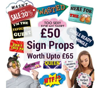 Photo Booth Sign Word Props Multi-pack Worth Up to £65