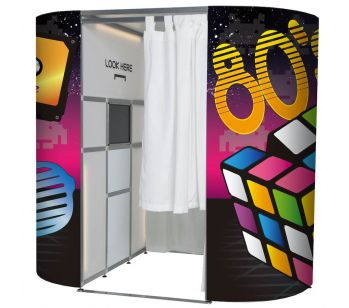 Colourful 80's Retro Photo Booth Panel Skins