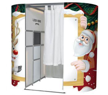 'Merry Christmas' Santa & Rudolph Photo Booth Panels Skins