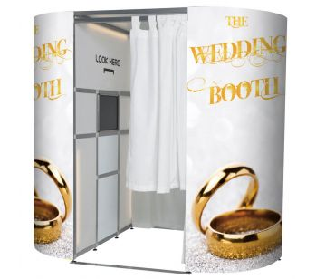 'The Wedding Booth' Glitzy Gold Wedding Rings Photo Booth Panels Skins