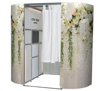 Beautiful Hanging Floral Arrangement Photo Booth Panels Skins
