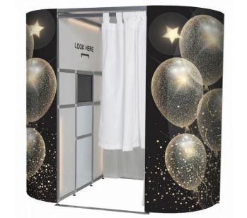Rustic Wood With Fairy Lights Photo Booth Experience Skins