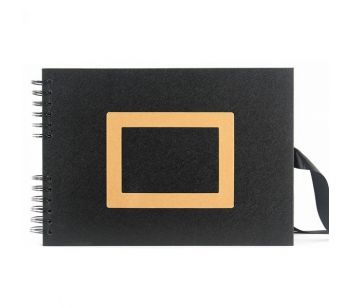 Good Size Black Paper Guestbook With Slight Leather Affect Covers