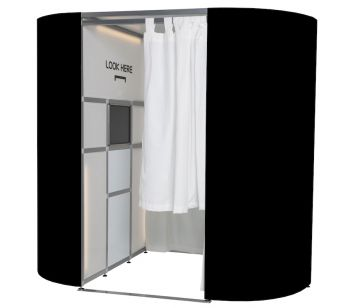 A Set of Black Gloss Photo Booth Panel Skins