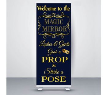 Blue & Gold Magic Mirror Roller Banner