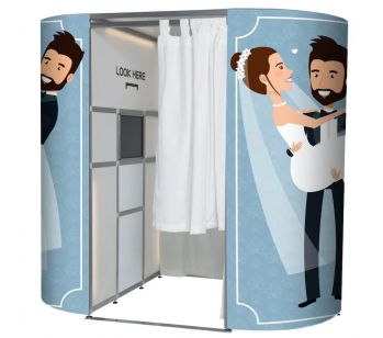 Wedding Couple Blue Booth Experience Skins