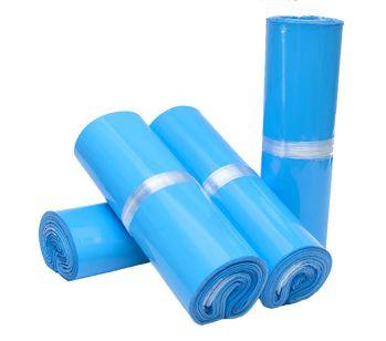 100pcs Self Adhesive Blue Mailing Bag 250mm x 310mm + 40mm