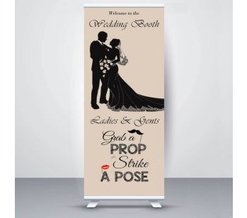 Champagne Colour Wedding Booth Roller Banner