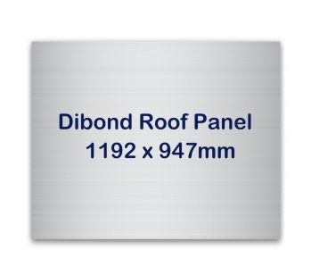 Dibond roof panel for the roof of your photo booth.