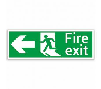 fire exit sign left