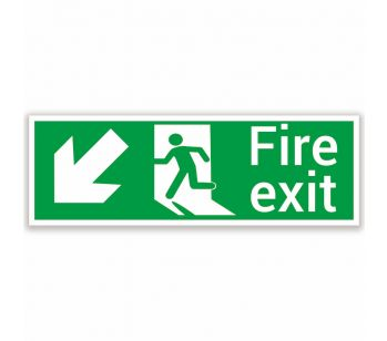 fire exit safety sign lower left