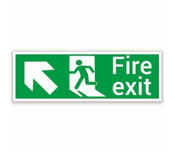 fire exit safety sign upper left