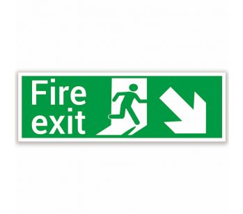 fire exit sign lower right