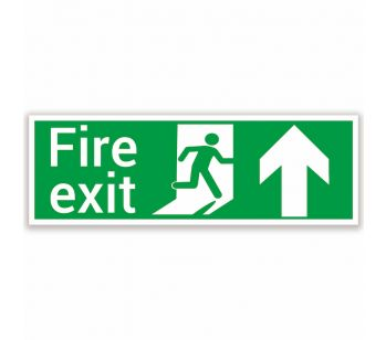 fire exit safety sign ahead