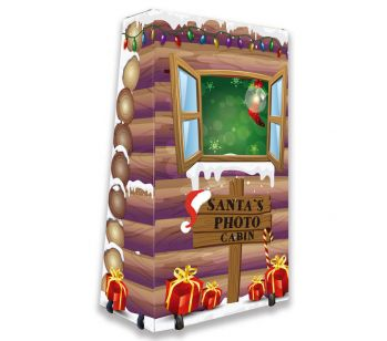 Magic Mirror FLITE Snowy Santa's Wood Log Cabin Full Set