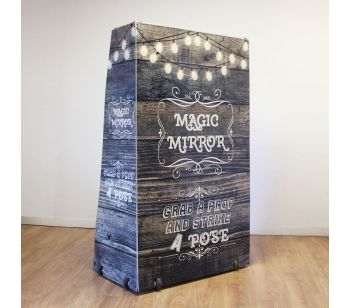 Magic Mirror FLITE Rustic Wood With Fairy Lights Full Set