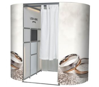 Two Wedding Rings Photo Booth Skins
