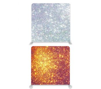 8ft*7.5ft Gold Glitter and Silver Glitter Effect Backdrop