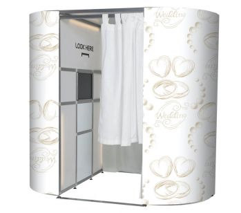 White With Gold Wedding Rings Photo Booth Panel Skins