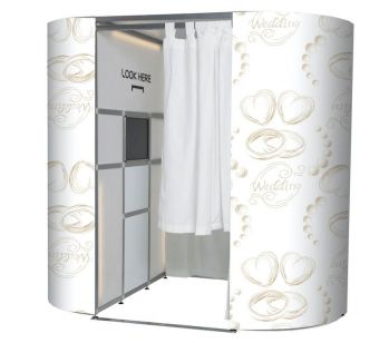 White With Gold Wedding Rings Booth Experience Skins