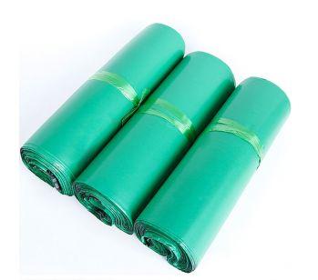 100pcs Self Adhesive Green Mailing Bag 250mm x 310mm + 40mm