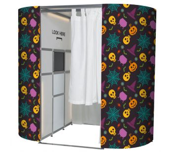 Halloween Pumpkin Party Pattern Photo Booth Panels Skins
