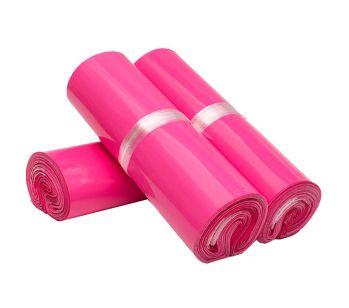 100pcs Self Adhesive Hot Pink Mailing Bag 170mm x 260mm + 40mm