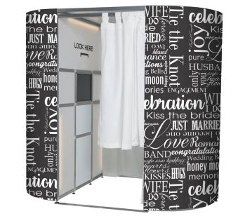 Wedding Word Map Jumble Photo Booth Panel Skins