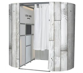 Light Rustic Wood Booth Experience Skins