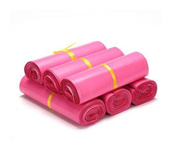 100pcs Self Adhesive Pink Mailing Bag 250mm x 310mm + 40mm