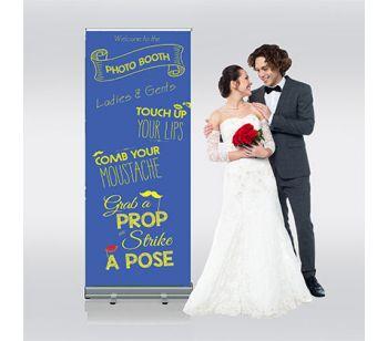 Blue Photobooth Roller Banner