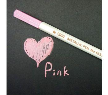 Pink Fluid Metallic Waterproof Guest Book Marker Pen