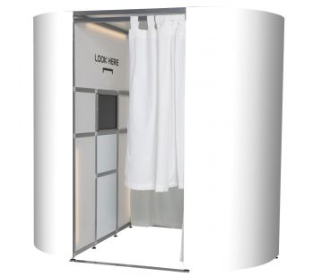 Plain White Photo Booth Skins In Matt  for Oval Photo Booth