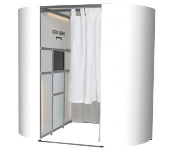 A Set of White Gloss BOOTH EXPERIENCE Photo Booth Skins
