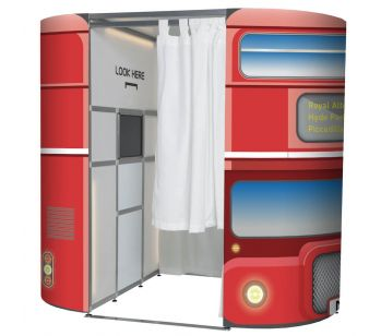 Red Decker London Bus Photo Booth Panel Skins