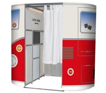 Red VW Camper Van Photo Booth Experience Skins