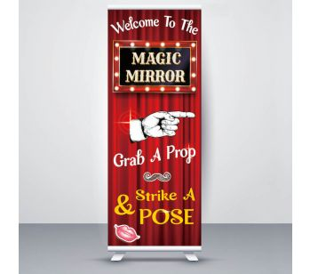 Red Curtain Showbiz 'Magic Mirror' Pop Up Roller Banner