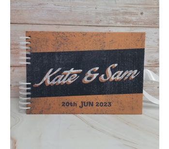 Personalised Retro Rusty Vintage Guestbook With Different Page Style Options