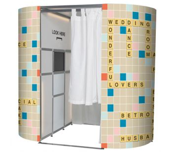 Wedding Scrabble Game Photo Booth Panel Skins