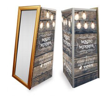 Magic Mirror SE Rustic Wood With Fairy Lights Full Set