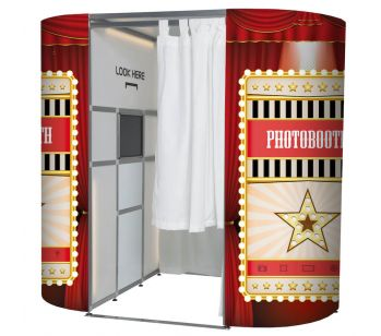 Circus Red Curtain Showbiz Photo Booth Panel Skins