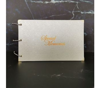 Good Size, Navy With Geometric Gold Frame Guestbook