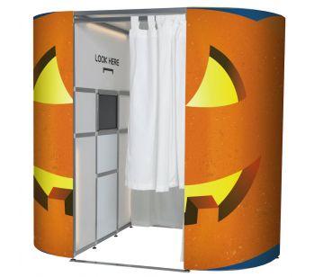 Spooky Pumpkin Halloween Photo Booth Panels Skins