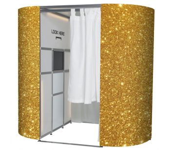 Very Glitzy Gold Photo Booth Panels