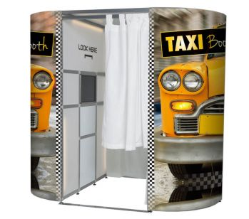 Taxi Cab Booth Photo Booth Panel Skins