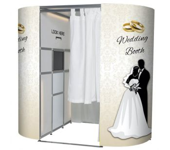Wedding Booth 'Just Married' Photo Booth Panel Skins