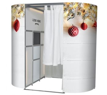 Red Xmas Bauble Photo Booth Panels