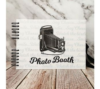 Good Size, White Photo Booth Style Guestbook With Page Colour Options