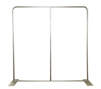 Strong Aluminium Pillowcase Backdrop Frame 8ft x 8ft With Extra Wide Feet