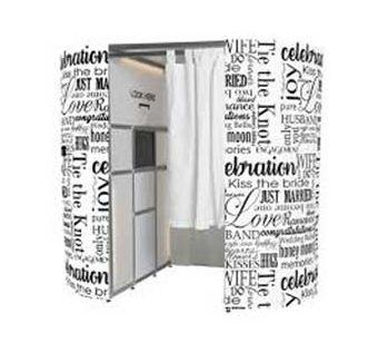 White Wedding Words Design Photo Booth Panels
